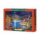 Puzzel 1000  elementen: Moonlit Cabin