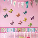 Großhandel Wandtattoos: 3D Schmetterlinge - Farbige