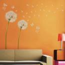 grossiste Stickers mureaux: Walplus Décoration  Sticker blanc Dandelion