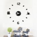 groothandel Klokken & wekkers: Walplus Acryl DIY  Koffie Wandklok - 43 cm