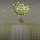 grossiste Stickers mureaux: Glow in the Dark -  Love You Golden Moon Quote