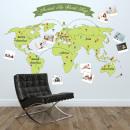 Großhandel Wandtattoos:Rund um die Weltkarte