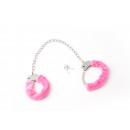 ingrosso Abbigliamento erotico: Fur Manette per Caviglie Rosa