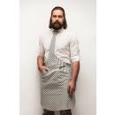 Großhandel Hemden & Blusen: Tie & Tie  Schürze Schürze Chef Weiß-Blau Zebra