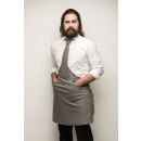 Großhandel Hemden & Blusen: Tie & Tie  Schürze Schürze Chef Weiß-Grau Zebra