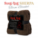 grossiste Linge de lit & Matelas: Snug-Rug Sherpa  Throw Blanket - Chocolat