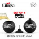 grossiste Horloges & Reveils: Iggi Bombs Drink - Ensemble de 4