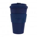 groothandel Huishouden & Keuken: Ecoffee Cup Bamboe  Beker - 400 ml Deep Blue met Bl