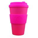 groothandel Huishouden & Keuken: Ecoffee Cup Bamboe  Beker - 400 ml Pink'd met Roze