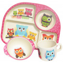 wholesale Licensed Products: Ecoffee Cup  BimBamBoo Kids Eat Set - Owls