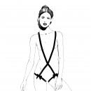 ingrosso Abbigliamento erotico:Cinghie di corpo - Nero