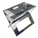 wholesale Garden & DIY store: Portable BBQ  Notebook - Stainless Steel