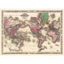 Tapis Monde Johnson - projection Mercator
