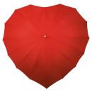 Großhandel Regenschirme:Herz Regenschirm - Rot