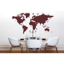 Mapa Mundial pared - Rojo