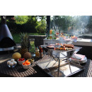wholesale Garden & DIY store: Foldable stainless steel BBQ