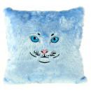 grossiste Coussins & Couvertures:Cat Coussin - Bleu clair