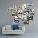 Walplus Decoration Sticker Silver Frame Stickers