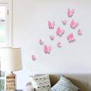 Großhandel Wandtattoos:3D Schmetterlinge - Pink