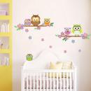 groothandel Wandtattoos: Walplus Kids  Decoratie Sticker - Uil Bloem Boom
