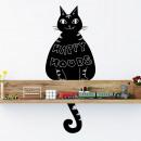 groothandel Wandtattoos: Walplus Krijtbord  Decoratie Sticker - Zwarte Kat