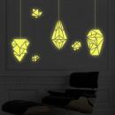 Großhandel Wandtattoos: Glow in the Dark - Geometrische Lampen