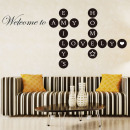 Lettres Welcome Home Puzzle