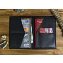 groothandel Reisartikelen: Walt RFID Paspoort  Houder - Echt Leer - Zwart