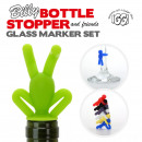 IGGI Billy Bottle Stopper and Wine Glass Marker Se