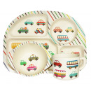wholesale Licensed Products: Ecoffee Cup  BimBamBoo Kids Eat Set - Transport