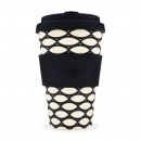 Ecoffee Cup Bamboo Cup - 400 ml Basket Case - Blac