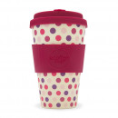 wholesale Houshold & Kitchen: Ecoffee Cup Bamboo Cup - 400 ml Pink Polka - Roz