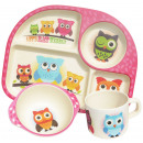 Ecoffee Cup  BimBamBoo Kinder essen Set - Eulen