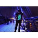 Schwarzes T-Shirt Super Green Glow (L)