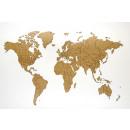 grossiste Décoration: Prestige en Bois  Carte du monde Vrai Puzzle - 100