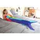 grossiste Linge de lit & Matelas: Snug-Rug Mermaid  Tail Blanket â €  Rainbow