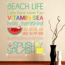 Walplus Decoration Sticker Beach Quote (ENG) S