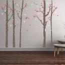 grossiste Stickers mureaux: Walplus Décoration  Sticker Birch Tree Forest avec