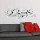 groothandel Wandtattoos: Walplus Home  Decoratie Sticker - I Love You Quote