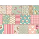groothandel Tapijt en vloerbedekking: Exclusive Edition  Tapijt Roze Bloemen - Vintage -