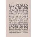 groothandel Tapijt en vloerbedekking: Exclusive Edition  Tapijt Huisregels Frans – Tekst