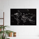 wholesale Home & Living: Miss Wood Vinyl Chalkboard World Map XL - 60x90 c