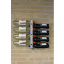 Stainless Steel  Bottle Holder for Wall - 8 Bottles