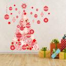 Walplus Home Decoratie Sticker - Rode Kerstboom