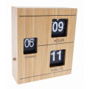 wholesale Clocks & Alarm Clocks: Bamboo Retro Flip Down Table Clock