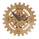 wholesale Clocks & Alarm Clocks:Tandwiel Wandklok Bamboe