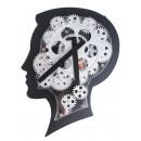groothandel Klokken & wekkers: Brain Design  Wandklok met Bewegende Tandwielen