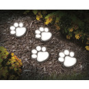 wholesale Garden Furniture: IdeaWorks Solar  Paw Print Lamp - Set of 4