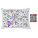 EatSleepDoodle Color & Leather World Map Pillo