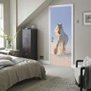 Walplus Door Decoration Sticker - White Horse